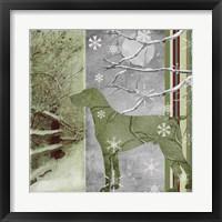 Country Christmas Dog Framed Print