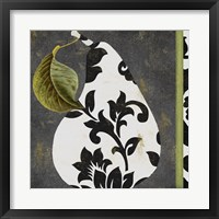 Decorative Pear I Framed Print