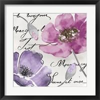 Fleurs de France I Framed Print