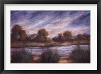 Framed Pastel Landscape I