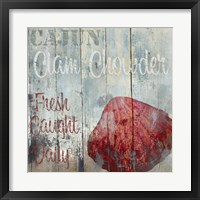 New Orleans Seafood IV Framed Print