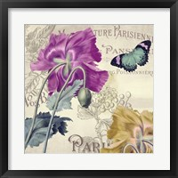 Petals of Paris III Framed Print