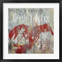 Resturant Seafood III Framed Print