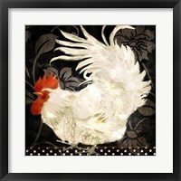Framed Rooster Damask I
