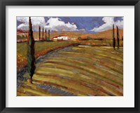 Framed Pastoral Fields I