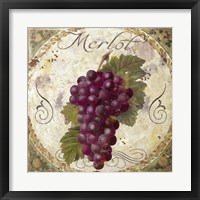 Tuscany Table Merlot Framed Print
