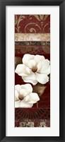 Flores Blancas II Framed Print