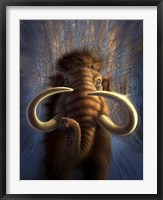 Framed Woolly Mammoth in Snow