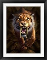 Framed Saber-toothed Tiger