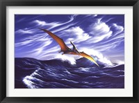 Framed Pteranodon Soars Over Waves
