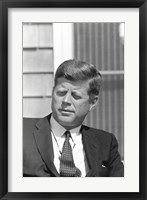 Framed Digitally Restored President John F Kennedy
