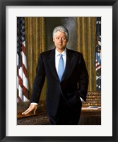 Framed Bill Clinton in White House