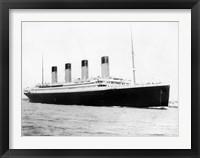 Framed RMS Titantic Departing Southampton