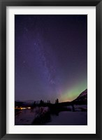 Framed Aurora Borealis and Milky Way
