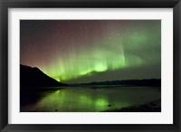 Framed Aurora Borealis over Kluane Lake