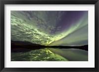 Framed Aurora Borealis over Schwatka Lake