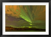 Framed Colorful Aurora Borealis