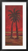Framed Crimson Palm I
