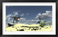 Utahraptor Bellows a Loud Roar Framed Print