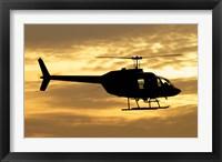 Framed Bell 206 utility helicopter