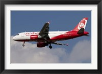 Framed Airbus A320 of Air Berlin