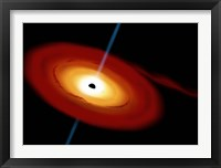 Framed Black Hole in Space