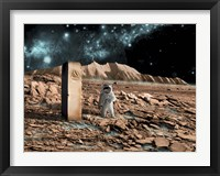 Framed Astronaut on an Alien World