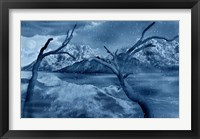 Framed Snow Covered Landscape