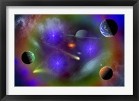 Framed Conceptual Image of Outer Space