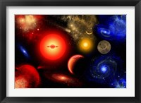 Framed Conceptual Image of Binary Star Systems