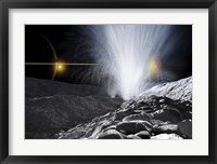 Framed Ice Fountains of Enceladus