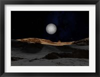 Framed Pluto with Charon in the Sky
