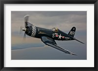 Framed Vought F4U-4 Corsair