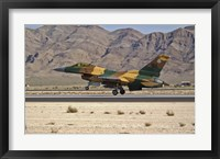 Framed US Air Force F-16