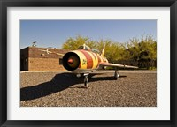 Framed Sukhoi Su-7 Fighter Plane