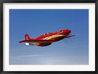 Framed Dago Red P-51G Mustang