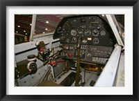 Framed Cockpit of a P-40E Warhawk