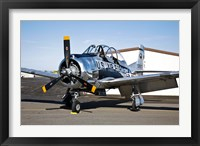 Framed North American T-28 Trojan