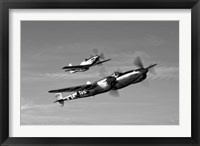 Framed P-38 Lightning and P-51D Mustang