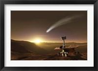 Framed Comet over Endeavour Crater