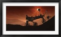 Framed Curiosity the Mars Mountaineer