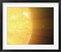 Framed Sun and the Earth