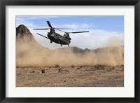 Framed CH-47 Chinook