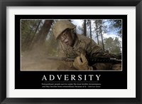 Framed Adversity: Inspirational Quote and Motivational Poster