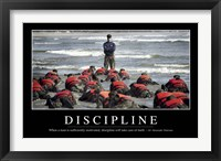 Framed Discipline: Inspirational Quote and Motivational Poster