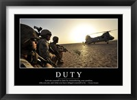 Framed Duty: Inspirational Quote and Motivational Poster