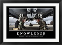 Framed Knowledge: Inspirational Quote and Motivational Poster