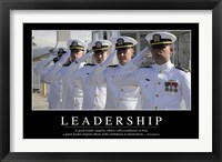 Framed Leadership: Inspirational Quote and Motivational Poster
