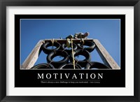 Framed Motivation: Inspirational Quote and Motivational Poster