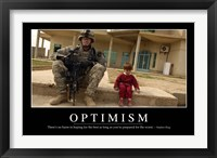 Framed Optimism: Inspirational Quote and Motivational Poster